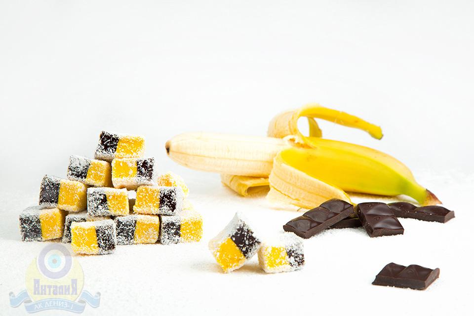 Лукум нуга банановая с шоколадом 2 кг