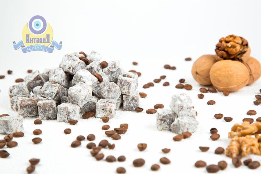 Лукум кофейный с грецким орехом двойной обжарки 2 кг