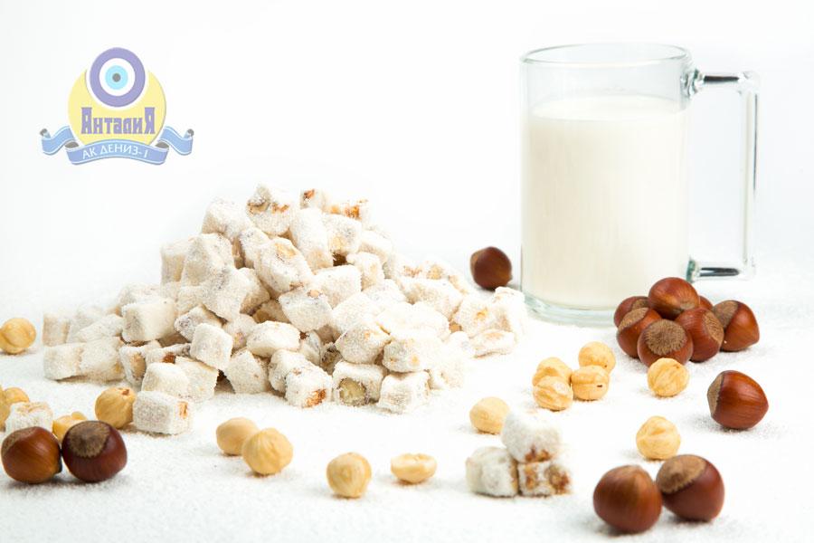 Лукум молочный с фундуком двойной обжарки 1,5 кг