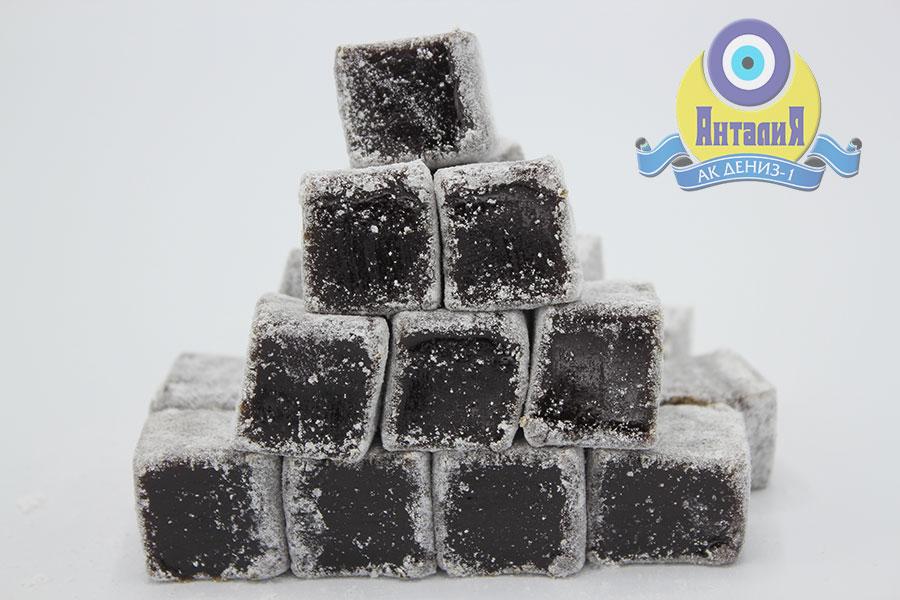 Лукум шоколадный в сахарной пудре